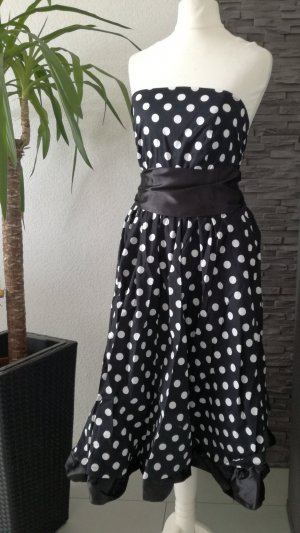 50er Swing Kleid Rockabilly Bandeau Polka Dots Swingkleid Tanzkleid Pin up 3XL