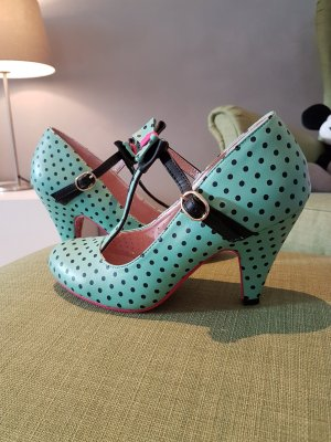 Strapped pumps multicolored imitation leather