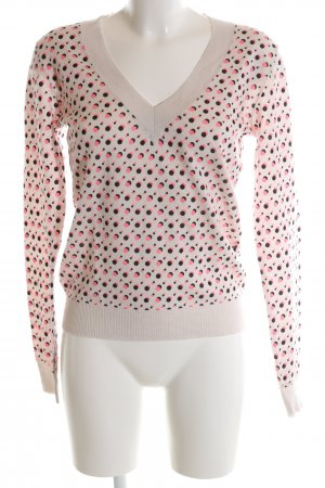 55 DSL V-Neck Sweater nude-pink spot pattern casual look