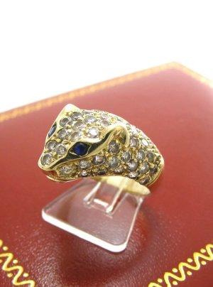 585 Gelbgold Panthere Ring mit Saphiren