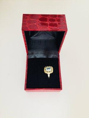 585 Gelbgold Ring mit Aquamarin