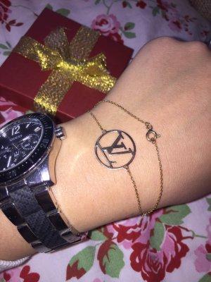 585 Gold Armband mit LV Anhänger