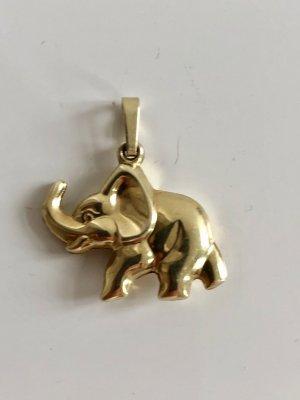 585 Gold Elefant Anhänger