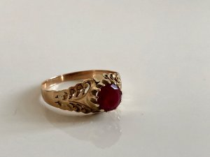Vintage Gold Ring multicolored real gold