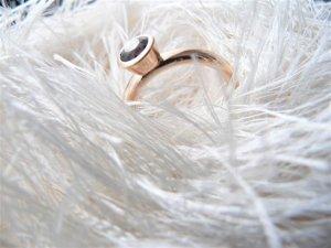 585 Rosegold Ring mit Rauchquarz und Origingalrechnung!