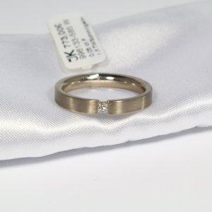 585 Weißgold Ring. 1 Diamant 0,05ct. IF/TW Lupenrein, Größe 56. UVP 773,00€ Handgefertigt in Deutschland