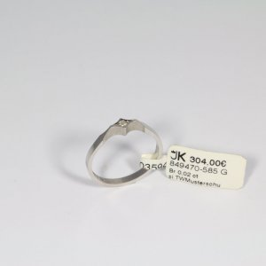 585 Weißgold Ring. Brillant 0,02ct. Si/TW Gr.52 UVP 304€ Made in Germany