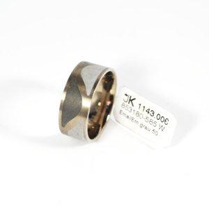 585 Weißgold Ring, Fein-Grau Emailliert. Größe 54. UVP 1143,00€ Made in Germany