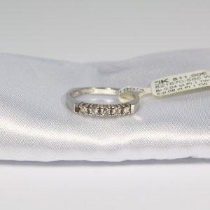 585 Weißgold Ring mit 5 Brillanten 0,1ct. Pi.1/TW Gr.53 UVP 811€ Made in Germany