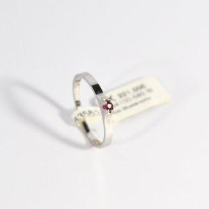 585 Weißgold Ring mit einem natürlichen Rubin. Gr.53 UVP 221,00€ Made in Germany
