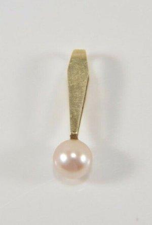 585er Gold Anhänger mit Perle Art Deco Anhänger Perle Goldanhänger