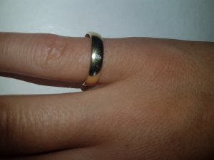 Gold Ring camel real gold