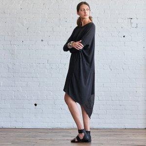 589€ Raquel Allegra x La Garconne Kleid Longshirt Oversized Batik Mes Demoiselles Jades Iro Maje