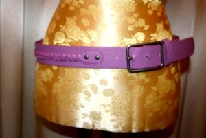 Pieces Braided Belt purple