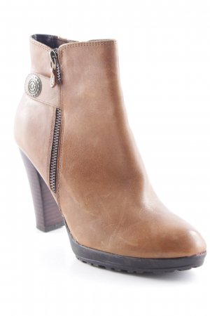 5th Avenue Absatz Stiefel hellbraun Casual-Look