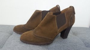 5th Avenue Wedge Booties black brown leather