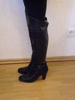 5TH AVENUE Echtleder Stiefel Overknee Gr 40 guter Zustand