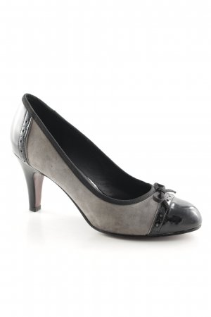 5th Avenue High Heels grau-schwarz Business-Look