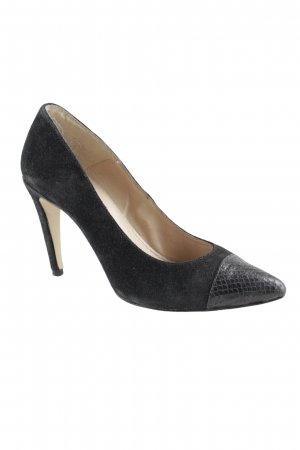 5th Avenue High Heels black herringbone pattern business style