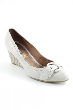 5th Avenue Keil-Pumps hellgrau-graubraun Elegant