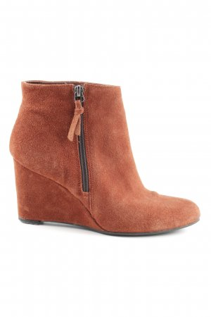 5th Avenue Keil-Stiefeletten rostrot Casual-Look