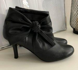 5th Avenue Leder Stiefelette mit Absatz, schwarz, Gr. 40, wie neu!