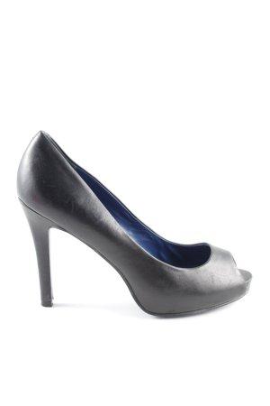 5th Avenue Peep Toe Pumps black elegant