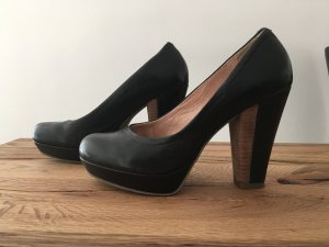 5th Avenue Plateau-High Heel Pumps 37 Schwarz Braun