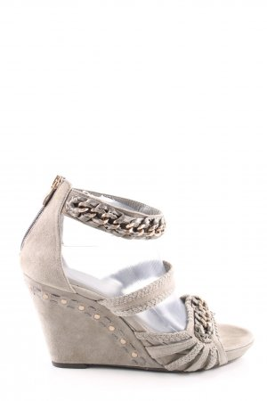 5th Avenue Platform Sandals natural white casual look