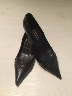 5TH AVENUE Pumps schwarz Leder spitz