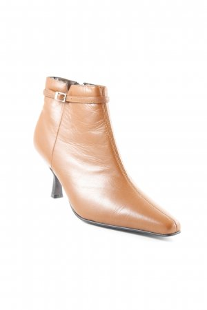 5th Avenue Zipper Booties cognac-coloured-dark brown casual look