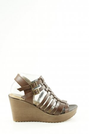 5th Avenue Strapped High-Heeled Sandals brown casual look