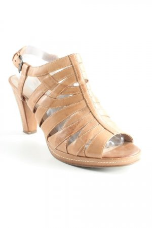 5th Avenue Strapped pumps light brown casual look