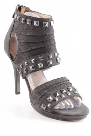5th Avenue Tacones de tiras negro look casual