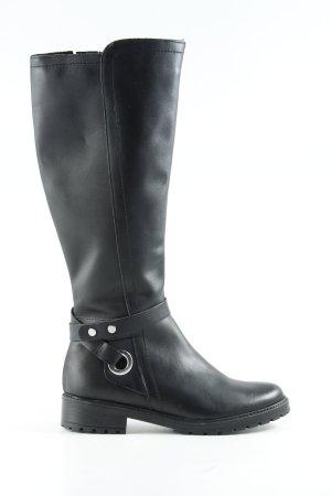 5th Avenue Jackboots black brown casual look