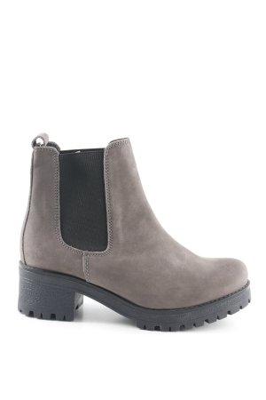 5th Avenue Botas deslizantes marrón grisáceo-negro look casual