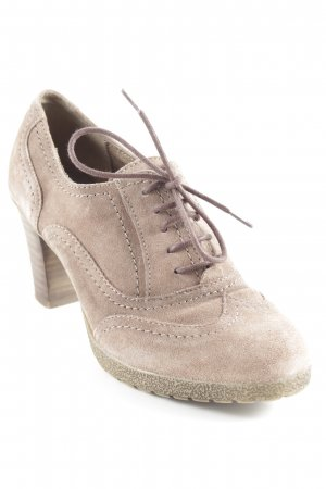 5th Avenue Lace Shoes grey brown classic style