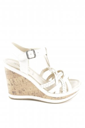 5th Avenue Wedges Sandaletten weiß Casual-Look