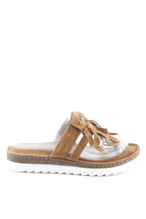 5th Avenue Toe-Post sandals brown Boho look