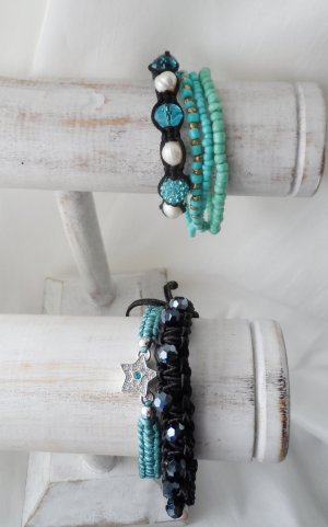 6 edle Armbänder ein Shamballa Armband teilweise neu