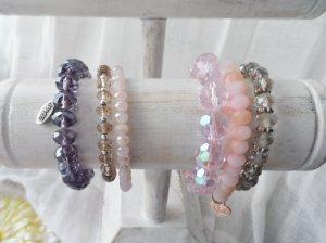 6 edle Glitzer Armbänder aus facettiertem Glas davon 1 Esprit Armband