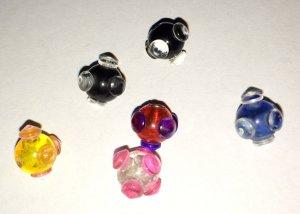 6 Piercingkugeln bunt (verschiedene Farben)