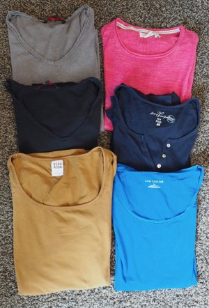 6 verschiedene Langarm-Shirts im Paket