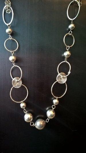 Necklace light grey metal