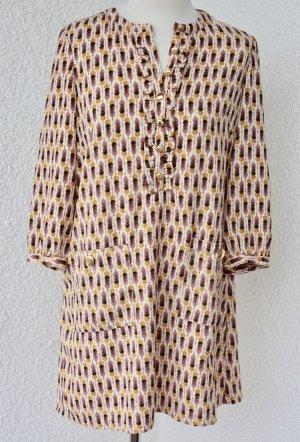 60er 70er Jahre Vintage Kleid Retro Rauten Muster A-Linie Kleid Twiggy