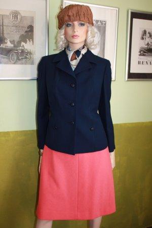 60er Blazer Jacke dunkelblau 42 Wolle