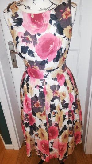 60er-Jahre Kleid  Gr. 36 tolles Rosenmuster