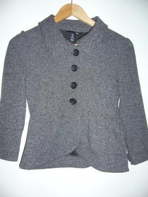 60er Jahre Tweed-Jacke kurz ausgestellt Kragen 51 % Baumwolle H&M S 36