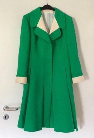 Wollen jas groen-licht beige