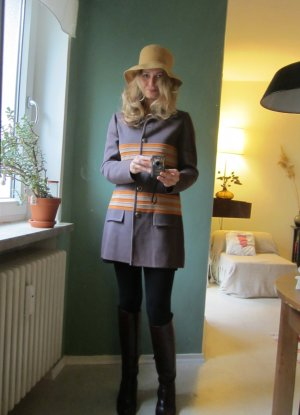 60ies-Wollmantel aus London